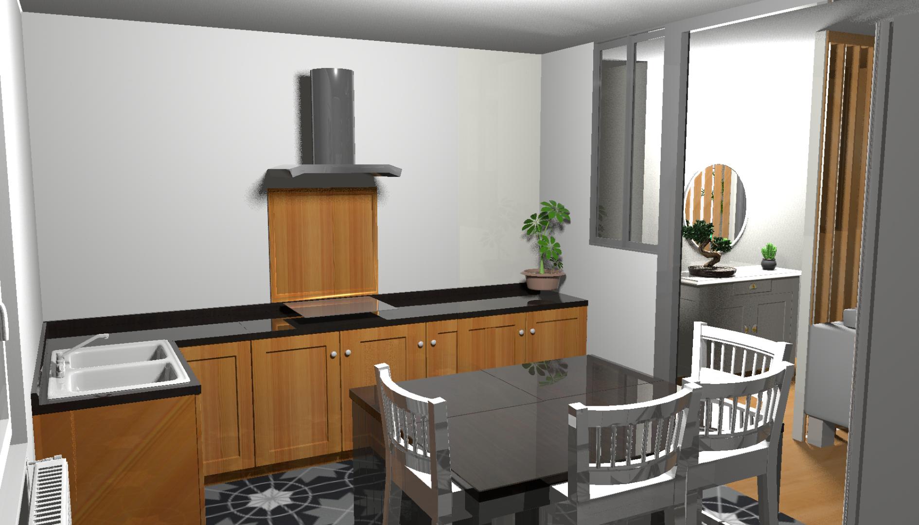 ADC Atlantique 17 | Cabinet de maîtrise d'oeuvre et d'architecture d'intérieur à Royan | Projet 3D de cuisine